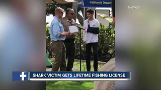 Shark attack victim receives special gift