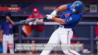 Tim Tebow's First Week With His New Team Was Full Of Highlights - Video