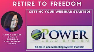 Getting Your Webinar Started!