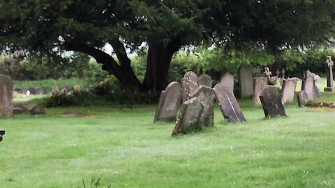 Is this a possible ghost sighting in a church graveyard