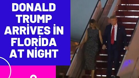 Is This From Yesterday? Please Read Description Below - Donald Trump Arrives In Florida At Night