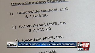 Actions of medical device companies questioned