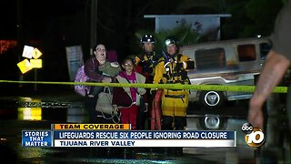 Lifeguards rescue six people ignoring road closed signs in Tijuana River Valley