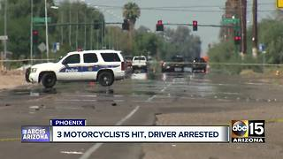 Driver hits motorcyclists on Phoenix - Video