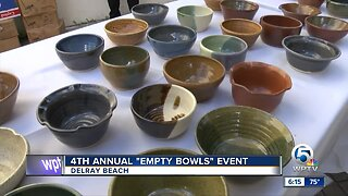 """4th annual """"Empty Bowls"""" event held in Delray Beach"""