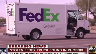 FedEx truck recovered after carjacking - Video