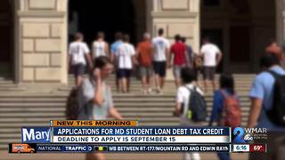 Applications accepted for student loan debt tax credit