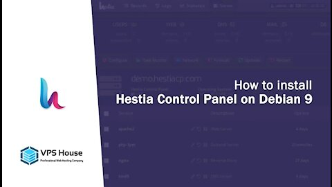 [VPS House] How to config the Hestia Control Panel?