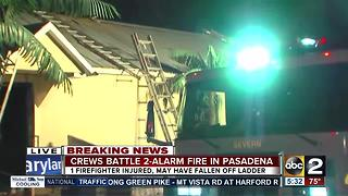Early morning fire at Pasadena bar injures one firefighter - Video