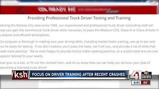 Focus on driver training after recent crashes - Video