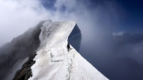 Mountains at point Blanc range! Marine takes deathly plunge off Mont Blanc