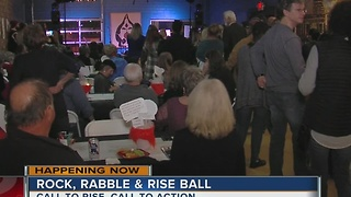 Rock, Rabble and Rise Ball. - Video