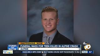 Funeral mass for teen killed in Alpine crash - Video