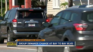 Pedestrian safety group demands safety changes to Bay to Bay Blvd. - Video