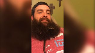 Pet Snake Makes Home In Man's Beard - Video