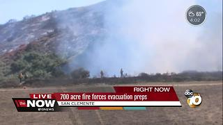San Clemente fire forces evacuation preps - Video