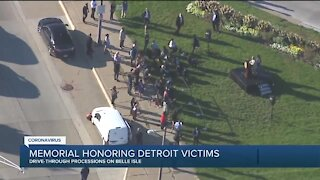 City honors 1500+ Detroiters lost to coronavirus with memorial drive on Belle Isle
