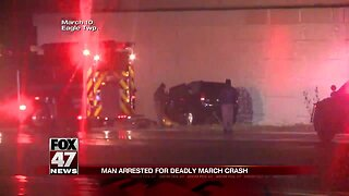 Man arrested for a fatal accident in March on I-96