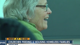 Churches feeding, housing homeless families - Video