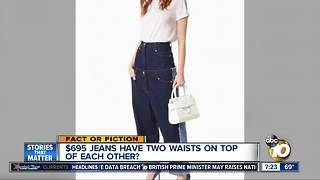 Strange jeans have 2 waists? - Video