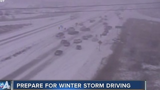 How to stay safe if you have to drive during bad weather - Video