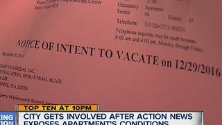People told to vacate Detroit apartment - Video