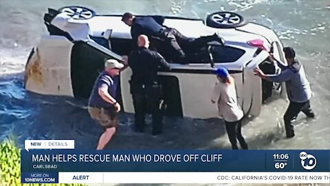 Retired Navy corpsman helped rescue man who drove off Carlsbad cliff
