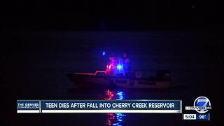 Teen who fell into Cherry Creek Reservoir Saturday identified; drowning likely, coroner says - Video