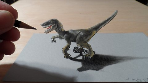 How to draw a 3D raptor
