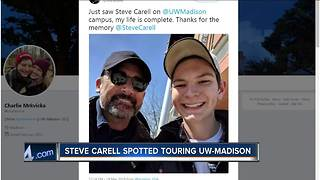 Steve Carell spotted touring UW-Madison - Video