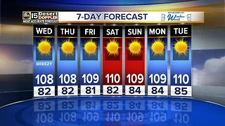 Sizzling heat continues, more breezes coming in the Valley - Video