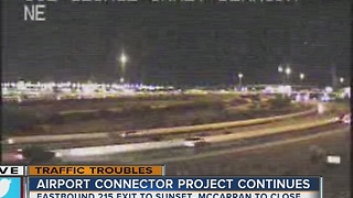 More closures as Airport Connector Project continues