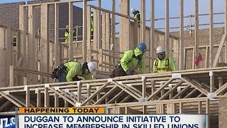 Mayor Duggan to announce initiative to increase membership in skilled trade unions - Video
