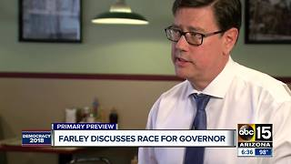 Steve Farley talks about his run for governor - Video