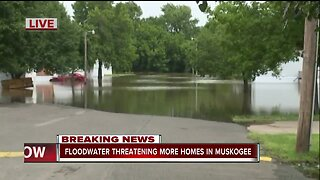 Floodwaters threaten homes in Muskogee County
