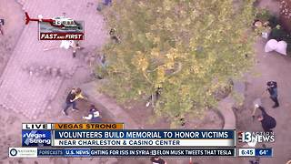 Volunteers build memorial park to honor Las Vegas shooting victims - Video