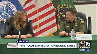 First Lady Trump in Tucson visiting immigration center - Video