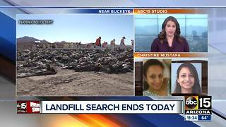 Phoenix police to end search of landfill for missing woman - Video