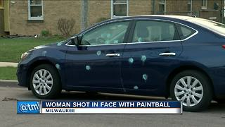 Milwaukee woman attacked by paintballs three times