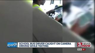 Bus driver fired after texting while driving school bus - Video