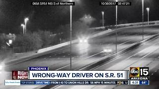 Wrong-way driver spotted on SR-51 - Video