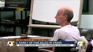 Suspect in crash that killed family in court - Video