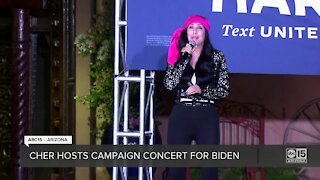 Music icon Cher sings at Joe Biden campaign event in Phoenix