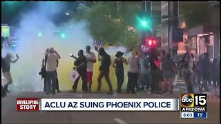 ACLU suing Phoenix police - Video