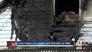 Fire displaces KCK couple from home of 30 years - Video