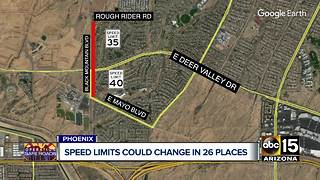 Speed limit changes could be coming to some Phoenix streets