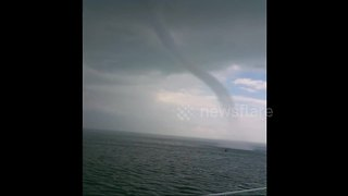 Incredible waterspout spotted off coast in southern China - Video