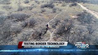 Testing electronic security while using drones at the border