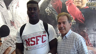 8th Grade Football Player Receives Scholarship Offer from Alabama - Video