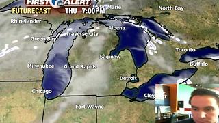 Snow moves out, cold moves in - Video